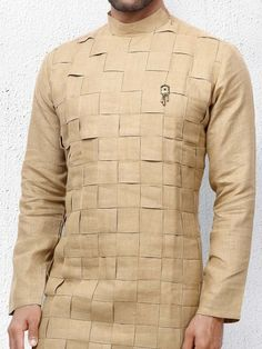 Shop Festive function beige colored solid kurta suit online from India. African Wear Styles For Men, African Shirts For Men, African Dresses Men, African Clothing For Men, Mens Clothing Styles, India Fashion Men, Nigerian Men Fashion, Indian Men Fashion, Mens Fashion Suits