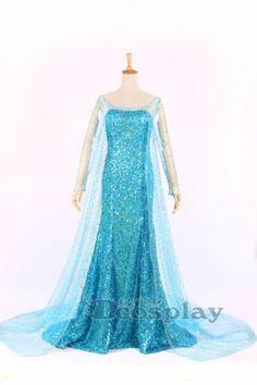 Frozen Elsa Dress Made The Snow Queen Cosplay Costume | eBay
