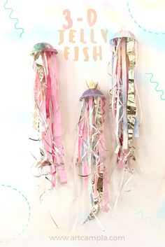 Jellyfish — ART CAMP Up-Cycled Jellyfish This image has get 0 rep… - Modern Creative Activities, Craft Activities For Kids, Preschool Crafts, Toddler Activities, Projects For Kids, Diy For Kids, Crafts For Kids, Arts And Crafts, Vocabulary Activities