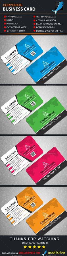 Corporate Business Card Template AI Illustrator