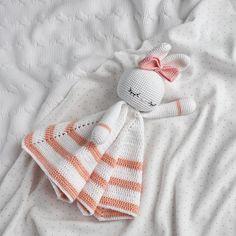 Lovely bunny pattern, Blanket toy, Crochet bunny pattern, Amigurumi pattern, Сrochet lovey pattern