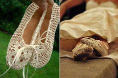 free crochet womens ballet slipper patterns - Google Search