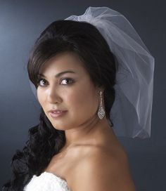 (White) - Tanya Women's Single Layer Fine Wedding Blusher Veil Bridal Birdcage | eBay