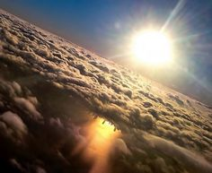 Chicago reflected in Lake Michigan from an Airplane : pics