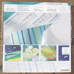 NEW 2007 Creative Memories ONCE UPON A BABY BOY BRIGHT 12x12 SEALED ALBUM KIT