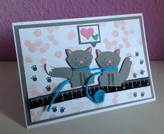 Stempelmädels: Katzenkarte