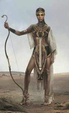 Beautiful Nubian Queen Warrior