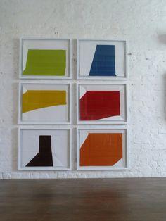 Rainer Splitt, Paperpools, gefaltetes/entfaltetes Papier, gerahmt je 50 x 70 cm, 2012