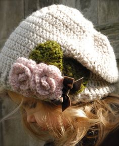 Ravelry: The Nala Slouchy pattern by Heidi May  I need this for me... But with only the two roses!