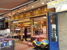 A busting neighborhood charcuterie in Paris