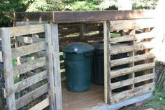 Hide your recycle bins behind your front porch with a wooden pallet structure. Or hide your gas line/ meter (except the part that needs to be read).