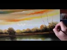 How to paint landscape - oil painting lesson