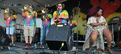 Original Pinettes Brass Band  at Jazz Fest. Photo by Black Mold.