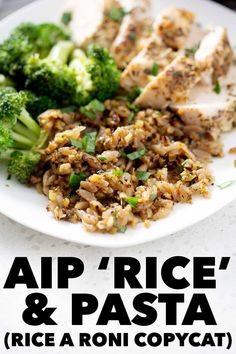 This nostalgic Rice a Roni copycat (AIP 'Rice' and Pasta) recipe is the perfect comfort food. It's creamy, satisfying and super delicious. Gluten Free Sides Dishes, Healthy Side Dishes, Rice A Roni, Paleo Recipes, Free Recipes, Dessert Recipes, Desserts, Creamy Rice, Copycat