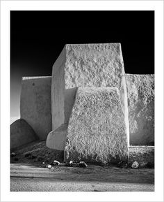 South Facade of Ranchos de Taos Mission Church, (Ranchos de Taos, Taos County, New Mexico). (1980)