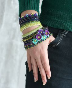 crochet cuff bracelet