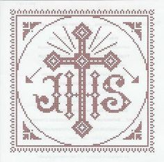 Weihkorbdecken Zählvorlage - Weihkorbdecken - Themen Altar, Retro Christmas Tree, Christmas Cross, Embroidery Patterns, Hand Embroidery, Cross Stitch Patterns, Christian Art, Knitting Projects, Cross Stitching