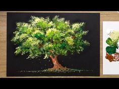 Easy Acrylic Painting Technique for Beginners - 'Tree' Acrylic Painting For Beginners, Simple Acrylic Paintings, Acrylic Painting Techniques, Beginner Painting, Painting Videos, Acrylic Painting Trees, Beginner Art, Acrylic Painting Tutorials, Pour Painting