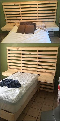 Make the best use of useless wooden pallets to meet the bedding requirements of the house. This interesting looking pallet wood bed is crafted to provide you an effective bed that you can easily placed in any bedroom of the house. It seems attractive.