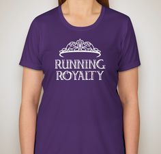 Buy a T-shirt to support Running Royalty for Life!!    If anyone is looking for a training shirt to help motivate you for Princess, I am selling these tech shirts to benefit the Lazarex Cancer Foundation. Get yourself something and help cancer patients get the treatment they need, all while feeling like royalty for just $20!