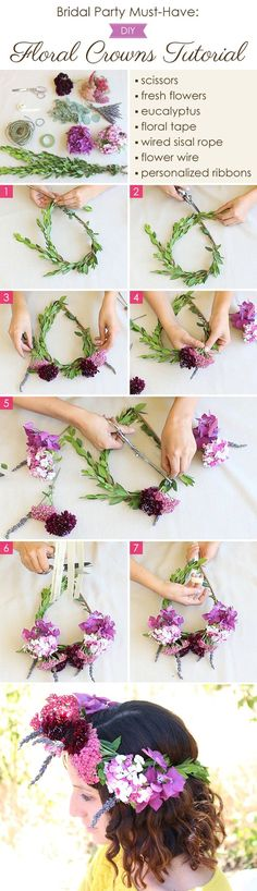 Our friends over at Home Sweet Flowers teaches us how to make DIY floral crowns. Learn how to make your own crown with this easy tutorial.