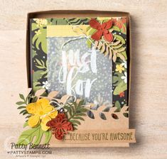 Botanicals Card set in a Box with Patty & Sara - Video!