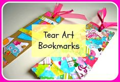 Craft for Kids: Tear Art Bookmark~ Buggy and Buddy (use Christmas wrapping paper scraps and glue stick?)
