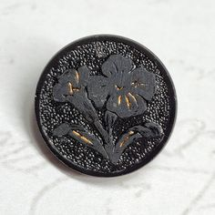 Black faceted flower shank coat buttons 15mm 19mm 23mm 28mm /& 34mm per 3 buttons