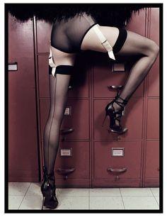 Zuzanna Bijoch Plays Sexy Secretary in Catherine Servel's 25 Magazine Shoot