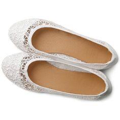 Ollio Women's Ballet Shoe Floral Lace Breathable Flat : Amazon.com