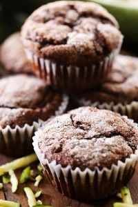 Chocolate Zucchini Banana Muffins | Chef in Training- i'll try subbing out GF flour and see what happens.