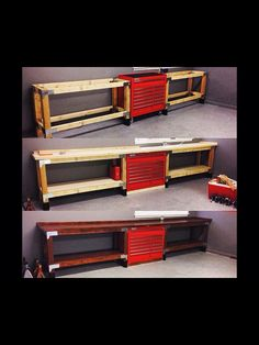 A garage workbench is a necessary tool in any house workshop. A workbench will enable you to total tasks easily and with greater precision. Garage House, Garage Shed, Garage Tools, Garage Plans, Dream Garage, Garage Workbench, Workbench Ideas, Barn Plans, Diy Garage Work Bench