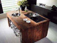 Reclaim timber kitchen island