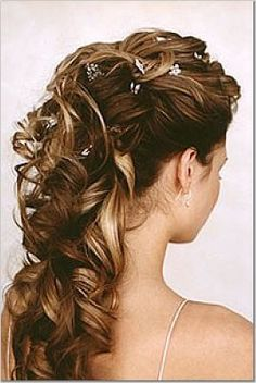 Up do ponytail with nice curls