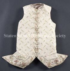 Image of C01.4158, Waistcoat: front view, 1760-1780