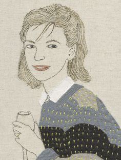 Embroidery designs by hand textile art artists 63 ideas Contemporary Embroidery, Modern Embroidery, Hand Embroidery Designs, Diy Embroidery, Embroidery Stitches, Embroidery Patterns, Machine Embroidery, Quilt Festival, Portrait Embroidery