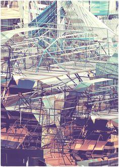 SCAFFOLDING II by atelier olschinsky, via Behance