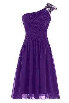 Amazon.com: Sunvary Fancy One Shoulder Bridesmaids Short Prom Homecoming Dresses: Clothing