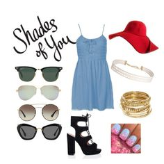 """""""I❤️Shades"""" by kroetman ❤ liked on Polyvore featuring Ray-Ban, Tiffany & Co., Prada, Miu Miu, Topshop, Humble Chic and ABS by Allen Schwartz"""