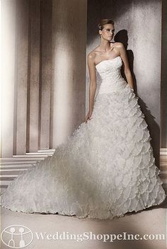 Pronovias Bridal Gown Babel - Visit Wedding Shoppe Inc. for designer bridal gowns, bridesmaid dresses, and much more at http://www.weddingshoppeinc.com
