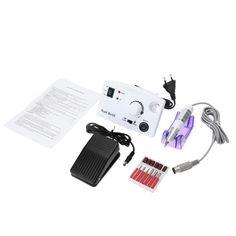 ANSELF Electric Nail Drill Machine Set Manicure Pedicure Kit Tools White 100V-240V EU Plug