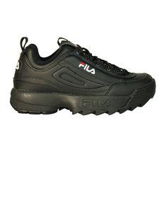 FILA | Fila Women's  Black Leather Sneakers #Shoes #Sneakers #FILA