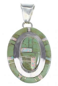 Turquoise And Opal Sterling Silver Pendant Jewelry VX54817