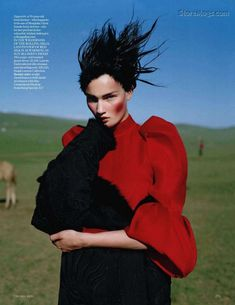 an awful big adventure: kirsi pyrhonen by tim walker for vogue uk december 2011