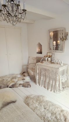 Total opposite of what I normally like but it's so clean, cosy and soft looking *0*