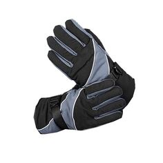 KUTOOK Full Finger Cycling Thicken Windproof Gloves for Winter Cold Weather and Mountain Bike, Grey/Black, One Size -- You can get additional details at the image link.