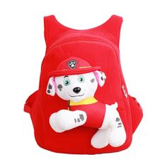 2017 Kindergarten Children Lovely Cartoon Dogs Character School Bags Kids Gifts Girls Plush Toys School Backpack Bags for Boys