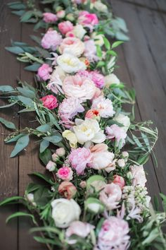 eucalyptus pink peony fresh flower table runner centerpieces