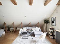 Attic studio apartment (photography by Jonas Berg for Stadshem)