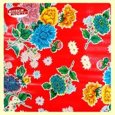 Toile cirée Kitsch Kitchen Crisantemo rouge